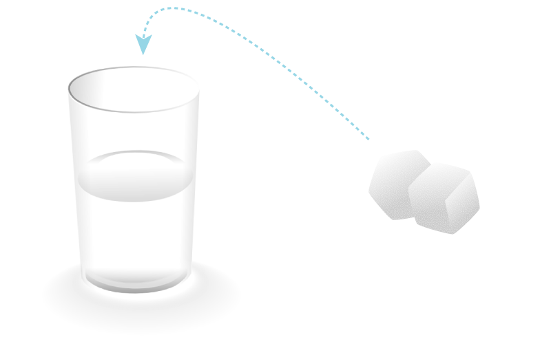 Растворившись, частички сахара