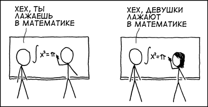 xkcd - Girls suck at math