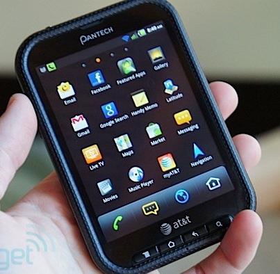 Нестандартный телефон Pantech Pocket