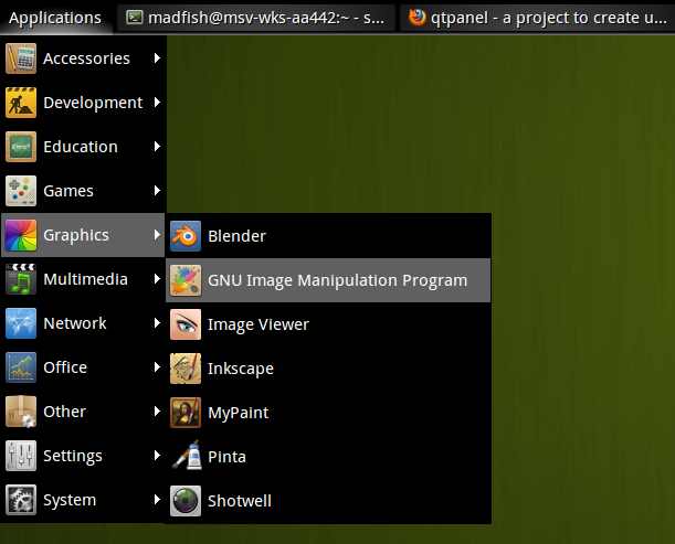 qtpanel — ещё одна десктопная панель для Linux