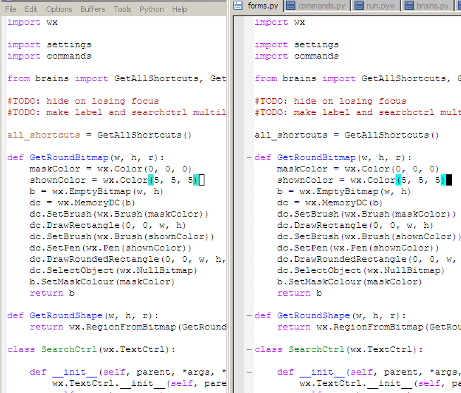цветовая схема для Python,
