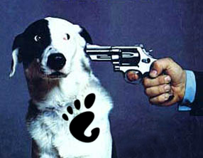 GNOME dog image