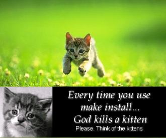 Хочется взять и расстрелять, или ликбез о том, почему не стоит использовать make install