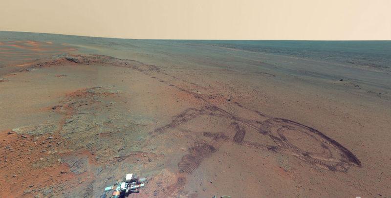 Панорамы Марса, сделанные Curiosity