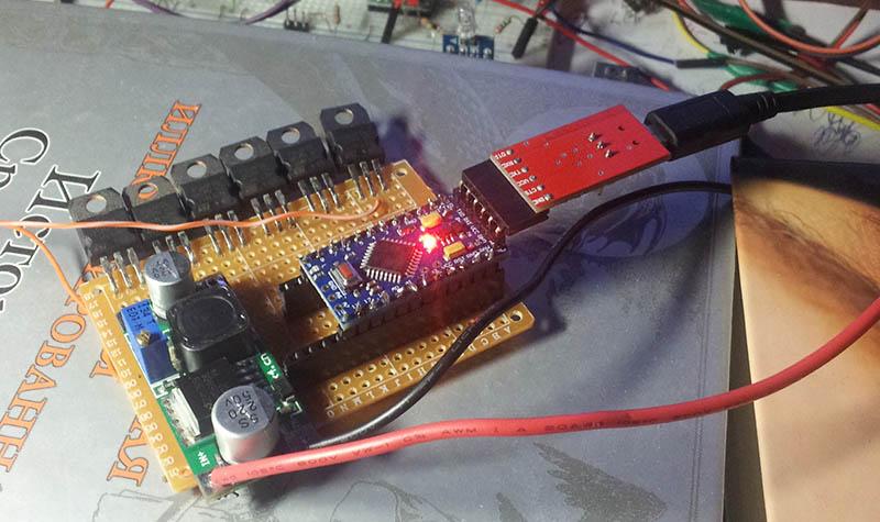 Мигающая строка из светодиодов для стоп сигнала на arduino
