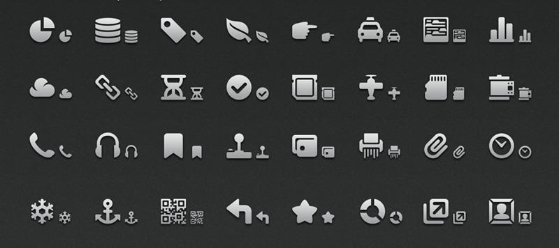5 иконок: