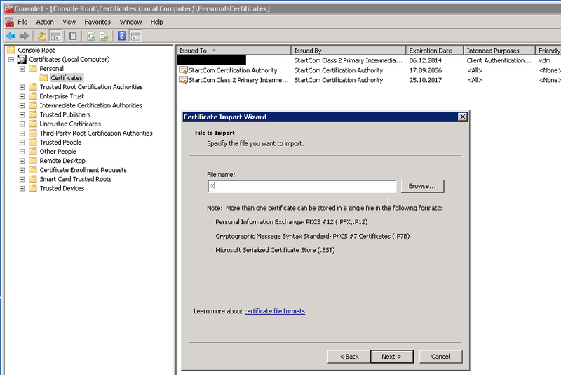 Программирование: Использование StartCom SSL Certificates для Vmware (Horizon) View 5.1-5.2