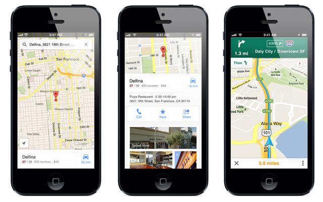 карты гугл для iphone