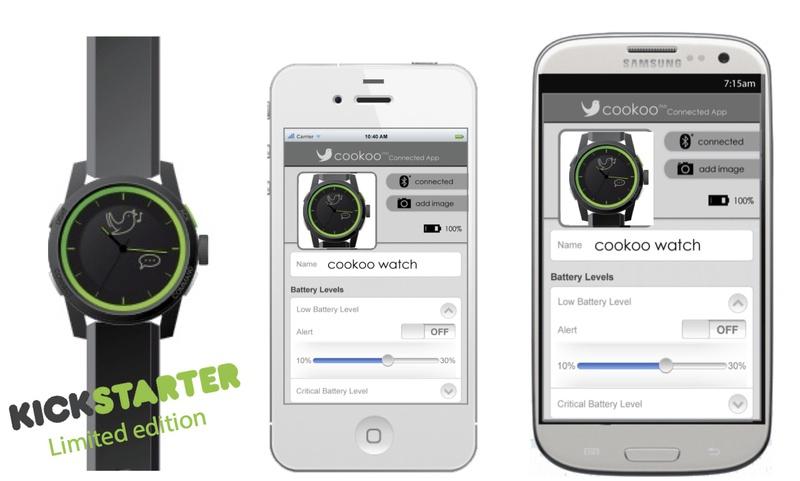 """Электронные наручные часы cookooв""""ў уже собрали 122 000 $ из требуемых 150 000 $ на Kickstarter"""
