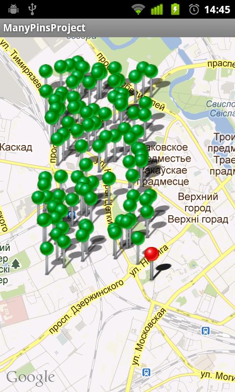 Android — фильтруем пины на карте, в зависимости от расстояния друг от друга