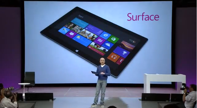 Фейл на презентации Surface