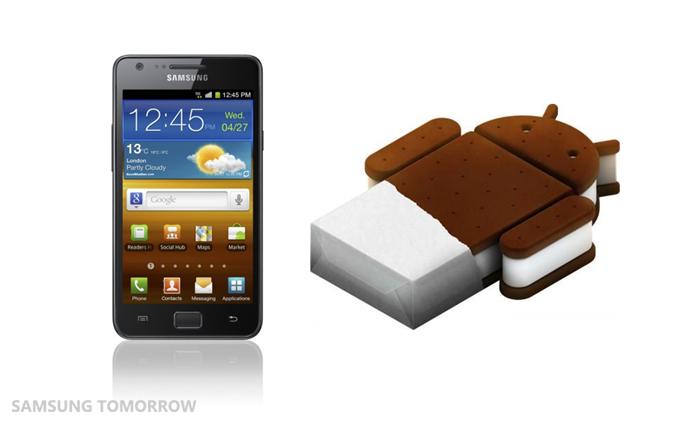 Samsung начинает распространять официальный ICS для Galaxy S2