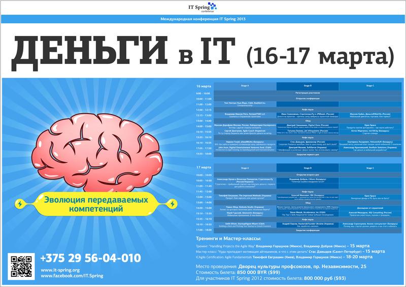 200093bf949fd8dbef92c563878b0940 Как заработать на IT конференции: наши находки и ошибкиСтудия HRM Проектов Юрия Сорокина Организация конференций Мастер класс Геймификация PR IT Spring 2013
