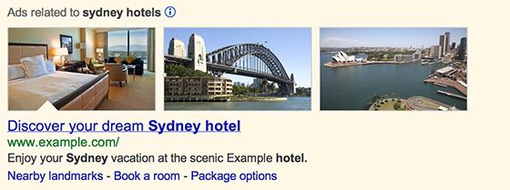 Google добавил релевантные изображения к рекламе Adwords на странице поиско ...