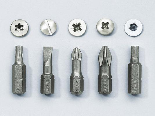 В шуруповертах используются различные рабочие насадки - биты.  Один их конец выполнен в виде шестигранника...