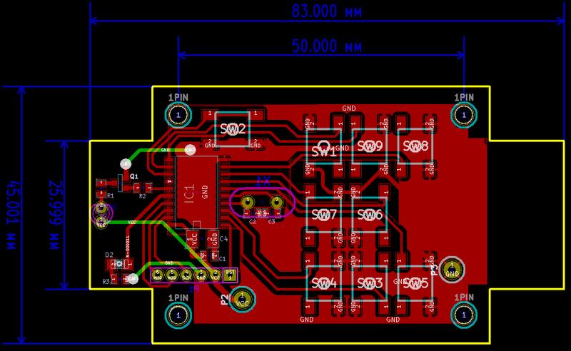 Функции кнопок: SW1 — Dock