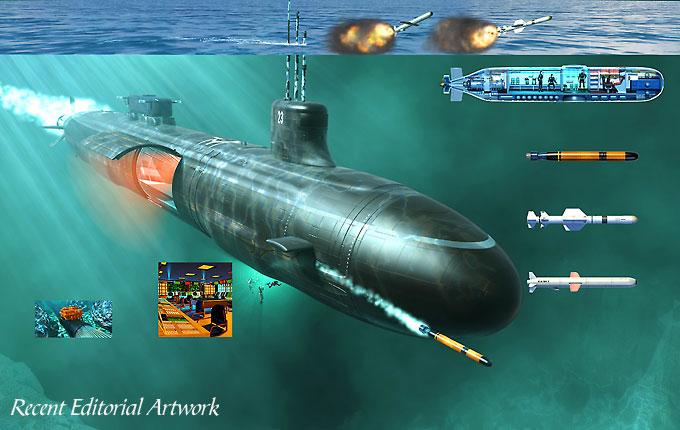Рис.2 Вооружение подводной