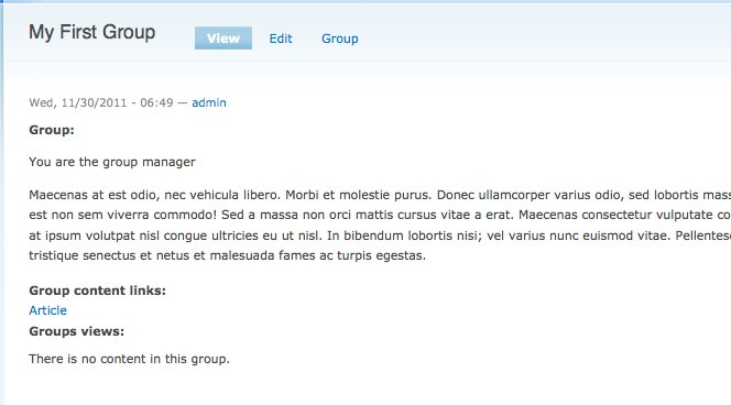 Drupal 7 проверить пользователь член группы