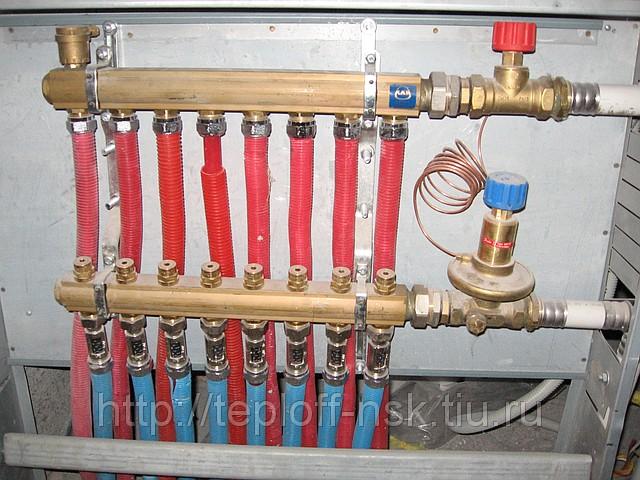 устройство водяного теплого пола - Схемы.