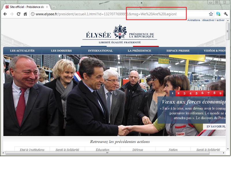Anonymous взломали сайт президента Франции в отместку за MegaUpload, пообещав продолжить атаки в ближайшее время