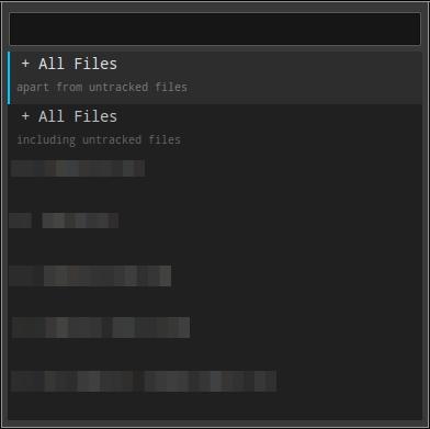 вид панельки Git: Add... в Sublime Text 2