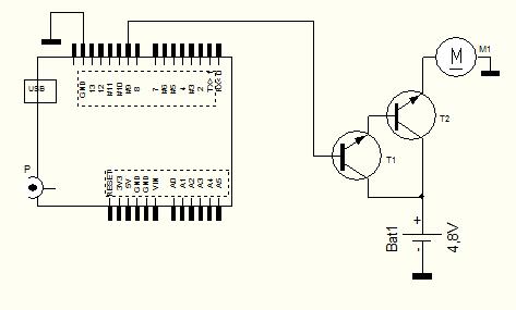 как составной транзистор,