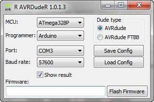 AVRDudeR — встраиваем avrdude в IDE