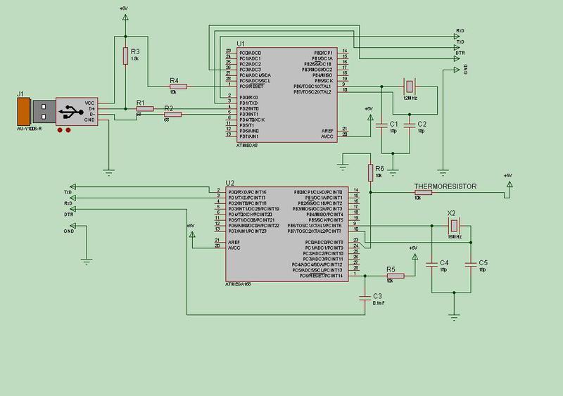 простейший терморезистор.