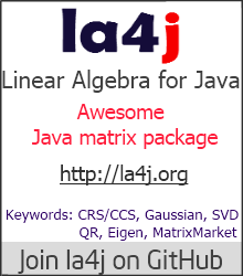 Linear Algebra for Java