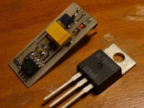 схема стабилизированного преобразователя для светодиодов.