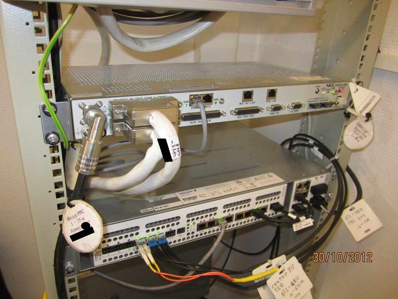 IDU подключены кабели,
