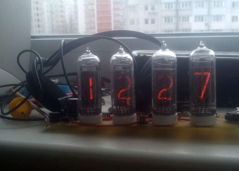 ИН-14 + КМ155ИД1.