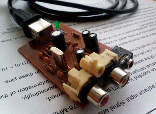 DIY или Сделай Сам. aitras.  Как оказалось, сделать внешнюю USB звуковую карту несложно и недорого.
