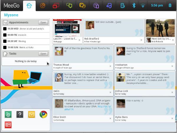 Интерфейс MeeGo для планшетов и нетбуков
