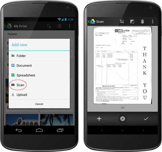 Обновился Google Drive для Android — фото документов распознаются и сохраня ...