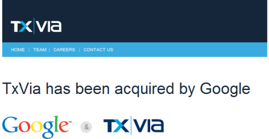 Корпорация Google приобрела сервис мобильных платежей TxVia