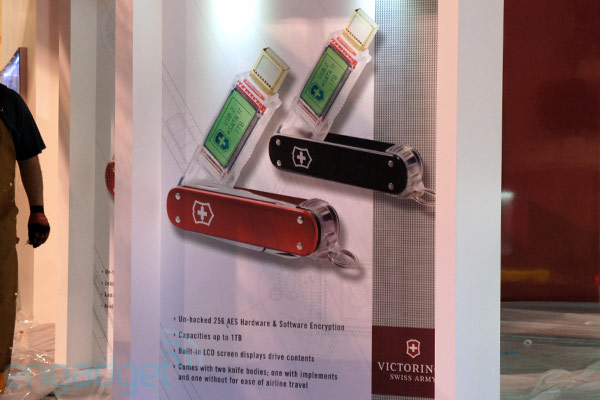 Victorinox может выпустить флешку на 1ТБ с 256AES и LCD дисплеем