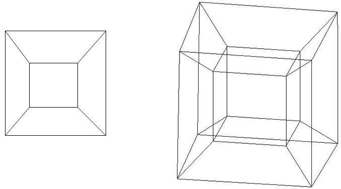 Куб в двух проекциях картинка