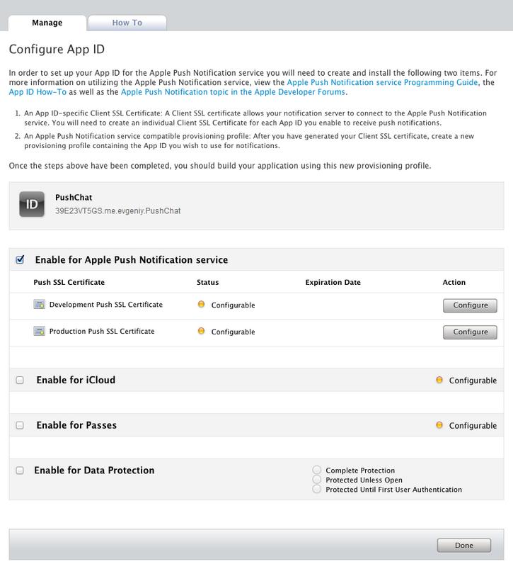 Руководство по работе с Apple Push Notification Service / Хабр