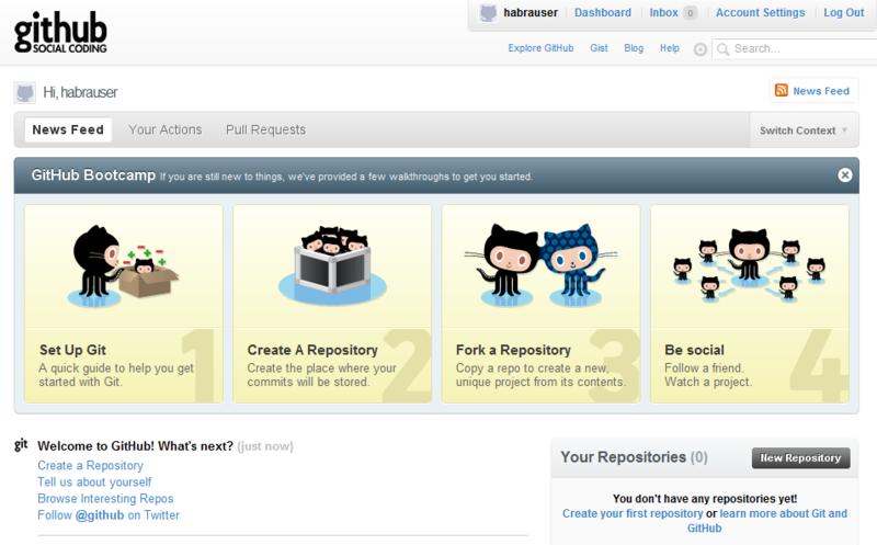 Как начать работать с GitHub  быстрый старт   Хабр f572640636e