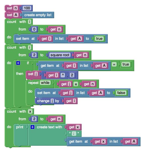 Язык программирования google blockly