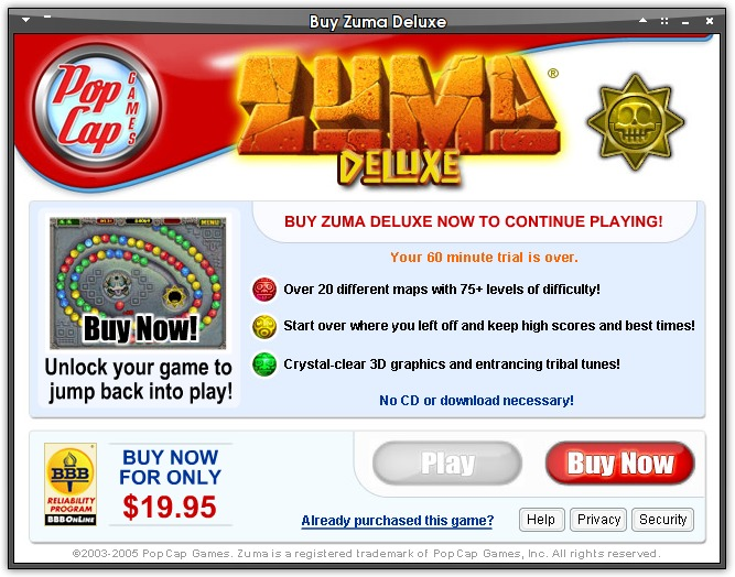 Popcap zuma deluxe 1 0 registration key