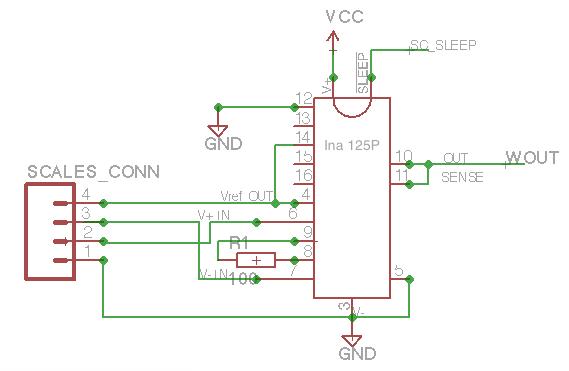 четыре провода от датчика.
