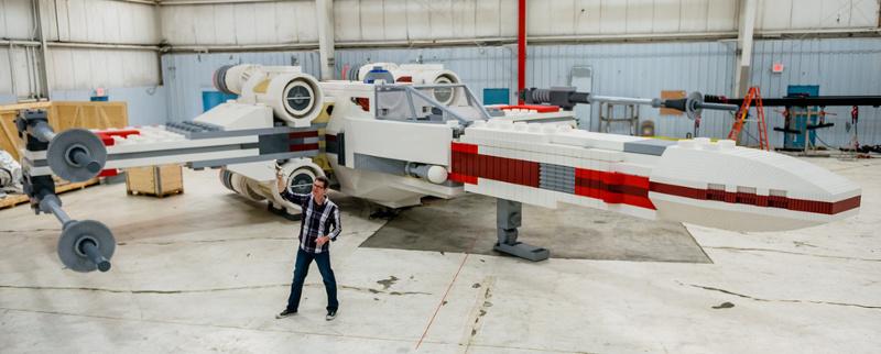Из 5 335 200 деталей LEGO построен звёздный истребитель X-Wing в натуральную величину