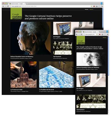 Адаптивный дизайн на странице Института культуры Google