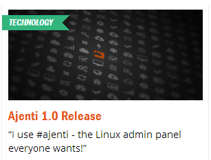 Веб-панель Ajenti 1 0 на финишной прямой / Хабр