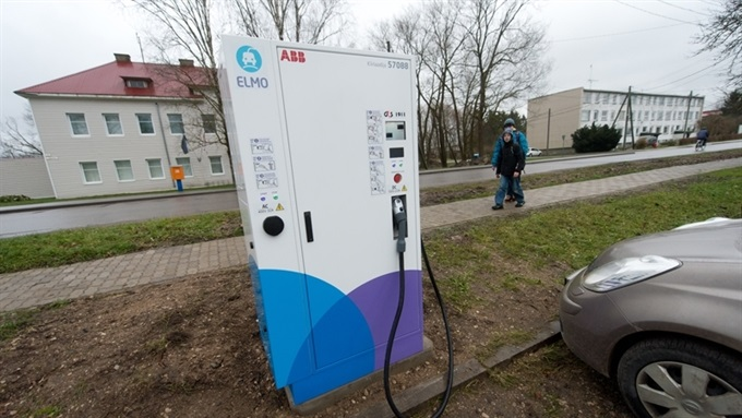 Электро-заправка в Эстонии