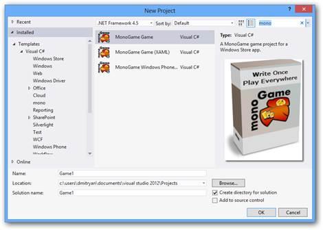 Введение в разработку игр для Windows 8 с использованием XNA