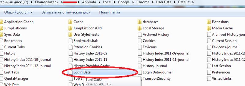 где Google Chrome хранит пароли - фото 3