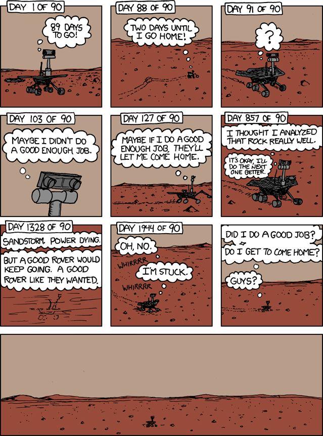 Марсоходу Spirit исполнилось 9 лет